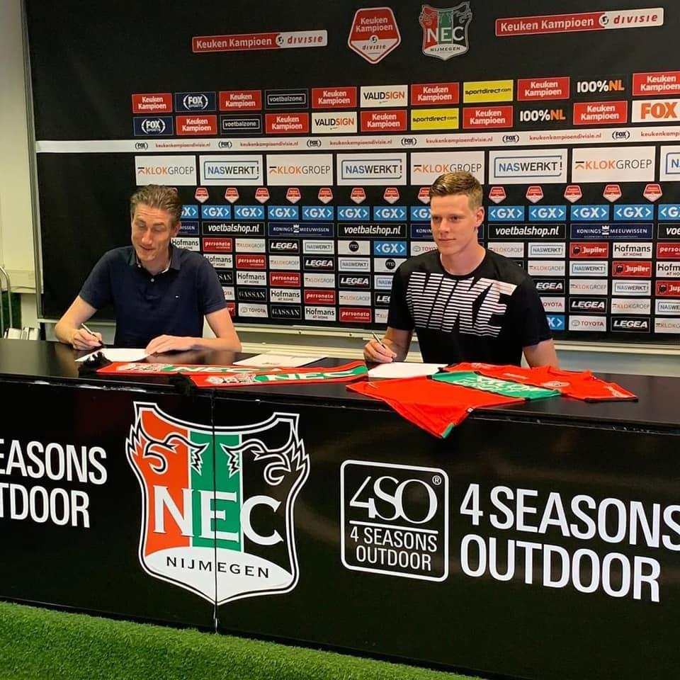 Giovanni Zwikstra tekent profcontract bij NEC Nijmegen